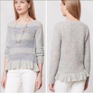 ❄️ Anthropologie Ruffled Sweater Size Medium NWT